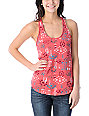 Empyre Casey Tribal Print Coral Tank Top