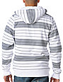 Empyre Clinton White Stripe Sherpa Zip Up Hoodie