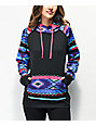 Empyre Frosty Tribal Black & Multicolor Tech Fleece Hoodie