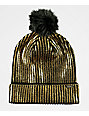 Empyre Gold Rush Black Pom Beanie