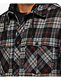Empyre Harold Black & Charcoal Thermal Hooded Flannel Shirt