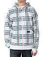 Empyre Icon White & Blue Striped Hoodie Jacket