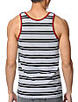 Empyre Jailbird Black & White Striped Tank Top