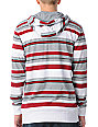 Empyre Loader Red & Grey Stripe Knit Hoodie