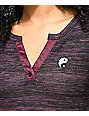 Empyre Marin Yin Yang Burgundy Long Sleeve Shirt