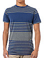 Empyre Mope Blue & Grey Striped Knit T-Shirt