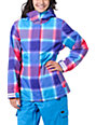 Empyre Palisade 10K Pink & Purple Plaid Snow Jacket