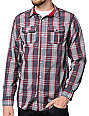 Empyre Racer Red Plaid Long Sleeve Woven Shirt
