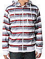 Empyre Revolution White Striped Sherpa Tech Fleece Jacket