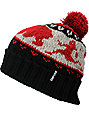 Empyre Scared Red Pom Beanie