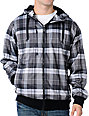 Empyre Sherman Grey Plaid Mens Tech Fleece Jacket