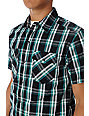 Empyre Skafari Black Plaid Short Sleeve Button Up Shirt