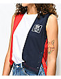 FILA Yasmin Red, White & Blue Crop Tank Top
