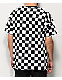 Fairplay Latore Black & White Checkered Knit T-Shirt