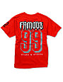 Famous Stars & Straps Boys Rally Fam Red T-Shirt