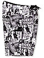 Famous Stars & Straps Filth & Fury Black & White Board Shorts
