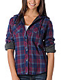 Fatal Charm Forage Plaid Purple Woven Shirt