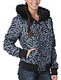 Fox Austen Black Graphic Print Puffy Jacket