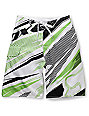 Fox Bionic Shards Boys Green & White Board Shorts