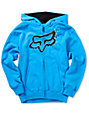 Fox Boys Pixelated Blue Zip Up Hoodie