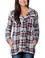 Fox Cadet Grey Plaid Hooded Jacket