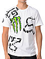 Fox Monster Energy Carmichael Replica White T-Shirt