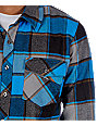 Fox Ozzwald Blue Long Sleeve Flannel Shirt