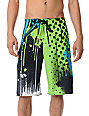 Fox Riot Black & Green Board Shorts