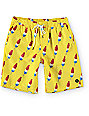 "Free World Dubtub Yellow Popsicle Easy Waist 20""  Board Shorts"
