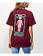 Girl OG Stack Burgundy Boyfriend T-Shirt