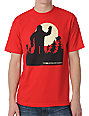 Girl Sasquatch Red T-Shirt