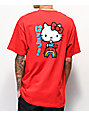 Girl x Hello Kitty 45th Anniversary Rainbow camiseta roja