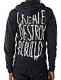 Glamour Kills Create Destroy Charcoal Hoodie