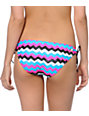 Glamour Kills Oslo Zigzag Print Tunnel Tie Bikini Bottom