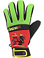Grenade Bob Gnarly Rasta Mens Snowboard Pipe Gloves