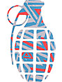 Grenade Doomvision Red & Blue 8.5 Die Cut Sticker