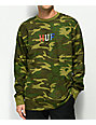 HUF Classic H Lips Camo Long Sleeve T-Shirt