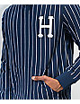 HUF League Navy & White Pinstriped Hoodie