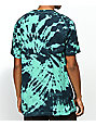 Happy Hour Stay Cool Teal & Black Tie Dye T-Shirt