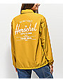 Herschel Supply Co. chaqueta entrenador amarilla