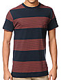 Imperial Motion Merlin Navy Striped T-Shirt