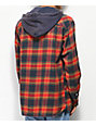 Imperial Motion Red Greenwich Hooded Flannel Shirt