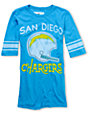 Junk Food NFL San Diego Chargers Turquoise Football T-Shirt
