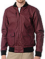 KR3W Anson Burgundy Waxed Canvas Jacket