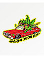 Killer Acid Slow Your Roll Weed Sticker
