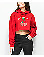 Know Bad Daze Crazy Red Crop Hoodie