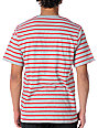 LRG CC Striped Red & Grey V-Neck T-Shirt