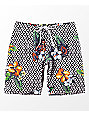 LRG Descendent Black, White & Floral Boardshorts