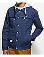 LRG Navy Hooded Denim Jacket