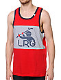 LRG South Sider Red Grey & Navy Tank Top